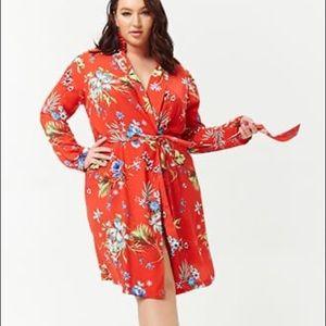 Forever21 plus size 2X tropical longline kimono